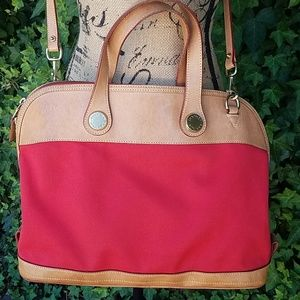 Dooney & Bourke Red Canvas/Leather bag.